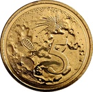 5 Cents - Elizabeth II (50th Anniversary Moon Landing) – revers