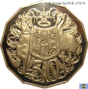 50 cents - Elizabeth II (3e effigie) -  revers