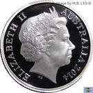 "1 Dollar  - Elizabeth II (""A Voyage to Terra Australis"") Silver Proof – avers"