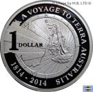 "1 Dollar  - Elizabeth II (""A Voyage to Terra Australis"") Silver Proof – revers"