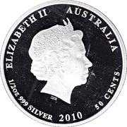 50 Cents - Elizabeth II (Seahorse) -  avers