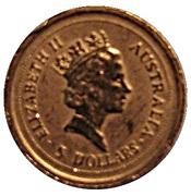 "5 Dollars - Elizabeth II (""Australian Nugget"" Gold Bullion Coinage) -  avers"