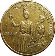 1 dollar Suffrage des femmes -  revers