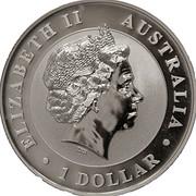 1 dollar Elizabeth II (4e effigie, kookaburra 2010) -  avers