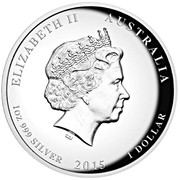 "1 Dollar - Elizabeth II (""Year of the Goat"" High Relief Proof) – avers"