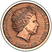 1 Dollar - Elizabeth II (4th portrait; Gaol Bird) -  avers