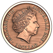 1 Dollar - Elizabeth II (4th portrait; Forget Me, Not) -  avers