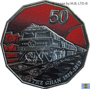 50 Cents - Elizabeth II (90th Anniversary of The Ghan) – revers