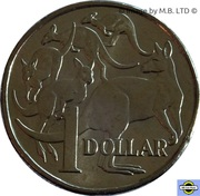 1 Dollar - Elizabeth II (6th portrait) -  revers