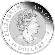 10 Dollars - Elizabeth II Australian Kookaburra -  avers