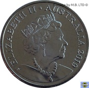 20 cents - Elizabeth II (6e effigie) -  avers