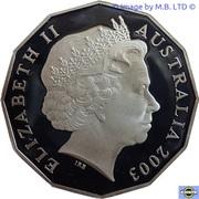 50 Cents - Elizabeth II (Coronation Jubilee) Silver Proof -  avers