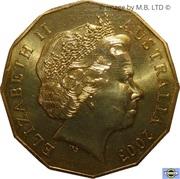 50 Cents - Elizabeth II (Coronation Jubilee) -  avers
