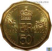 50 Cents - Elizabeth II (Coronation Jubilee) -  revers