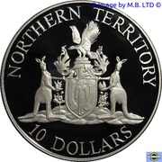 10 Dollars - Elizabeth II (Territoire du Nord) -  revers
