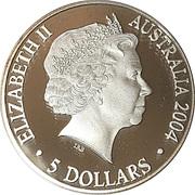 5 Dollars - Queen Elizabeth II (Bicentenary of Tasmania) -  avers