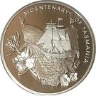 5 Dollars - Queen Elizabeth II (Bicentenary of Tasmania) – revers