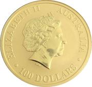 """100 Dollars - Elizabeth II """"Kangaroo"""" Gold Bullion Coinage -  avers"""