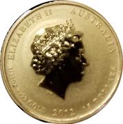 15 Dollars - Elizabeth II (Lunar series II Year of the Dragon; Gold Bullion) – avers