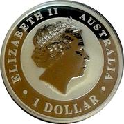 1 Dollar - Elizabeth II Australian Kangaroo; Gilded Edition – avers