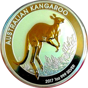1 Dollar - Elizabeth II Australian Kangaroo; Gilded Edition – revers