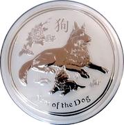 30 Dollars - Elizabeth II (Year of the Dog) -  revers