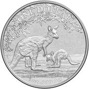 1 Dollar - Elizabeth II Kangaroo -  revers