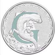 1 Dollar - Elizabeth II (4th Portrait - Alphabet Collection - Letter G - Silver Proof) -  revers