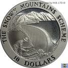 10 Dollars (4th Portrait - Snowy Mountains Dam) – revers