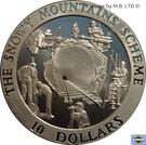 10 Dollars 4th Portrait - Snowy Mountains Tunnel – revers