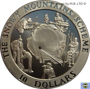 10 Dollars 4th Portrait - Snowy Mountains Tunnel -  revers