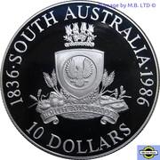 10 dollars Australie-Méridionale -  revers