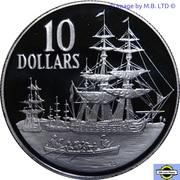 10 Dollars - Elizabeth II (3rd Portrait; Bicentenary) -  revers