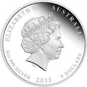 """8 Dollars - Elizabeth II (""""Lunar Year Series II"""" Silver Bullion Coinage) -  avers"""