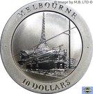 10 Dollars - Elizabeth II 4ème portrait (Melbourne) – revers