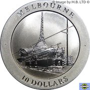 10 Dollars - Elizabeth II 4ème portrait (Melbourne) -  revers