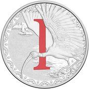1 Dollar - Elizabeth II (4th Portrait - Alphabet Collection - Letter I - Silver Proof) -  revers