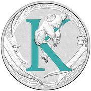 1 Dollar - Elizabeth II (4th Portrait - Alphabet Collection - Letter K - Silver Proof) -  revers