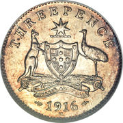 3 Pence - George V -  revers