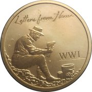 1 Dollar - Elizabeth II (Letters From Home) -  revers
