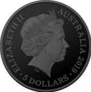 5 Dollars - Elizabeth II (4th Portrait - Tasmanian Tiger) -  avers