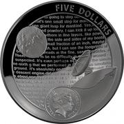 5 Dollars - Elizabeth II (4th Portrait - Moon Landing 50th Anniversary) -  avers