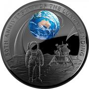 5 Dollars - Elizabeth II (4th Portrait - Moon Landing 50th Anniversary) -  revers