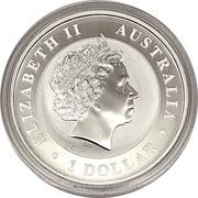 1 Dollar - Elizabeth II (Australia Gilded Kangaroo) -  avers