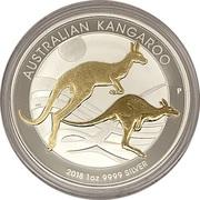 1 Dollar - Elizabeth II (Australia Gilded Kangaroo) -  revers