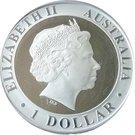 1 dollar Alunissage – avers