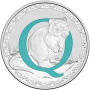 1 Dollar - Elizabeth II (4th Portrait - Alphabet Collection - Letter Q - Silver Proof) -  revers