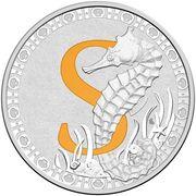 1 Dollar - Elizabeth II (4th Portrait - Alphabet Collection - Letter S - Silver Proof) -  revers