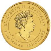 50 Dollar - Elizabeth II (6th Portrait - Year of the Mouse) -  avers