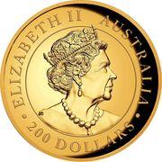 """200 Dollars - Elizabeth II (""""Kangaroo"""" Gold Bullion Coinage) -  avers"""